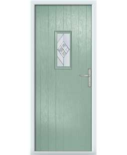The Taunton Composite Door in Green (Chartwell) with Eclipse