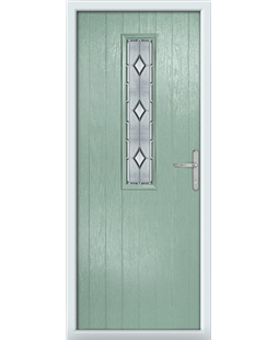 The Sheffield Composite Door in Green (Chartwell) with Ice