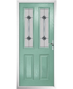 The Cardiff Composite Door in Green (Chartwell) with Infinity