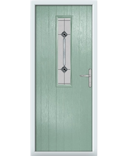 The Sheffield Composite Door in Green (Chartwell) with Infinity