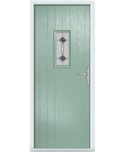 The Taunton Composite Door in Green (Chartwell) with Infinity