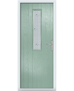 The Sheffield Composite Door in Green (Chartwell) with Jewel