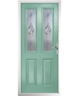The Cardiff Composite Door in Green (Chartwell) with Knightsbridge
