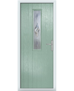 The Sheffield Composite Door in Green (Chartwell) with Knightsbridge