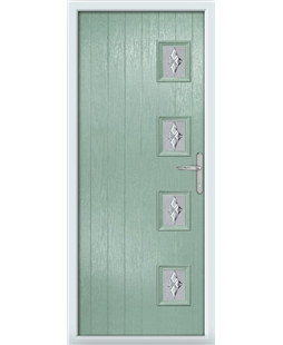 The Preston Composite Door in Green (Chartwell) with Luxury Crystal