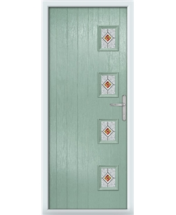 The Preston Composite Door in Green (Chartwell) with Red Daventry