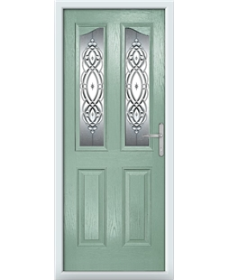 The Birmingham Composite Door in Green (Chartwell) with Reflections