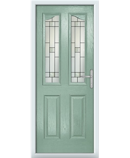 The Birmingham Composite Door in Green (Chartwell) with Tate