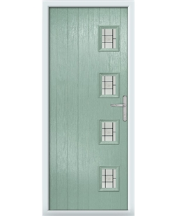 The Preston Composite Door in Green (Chartwell) with Tate