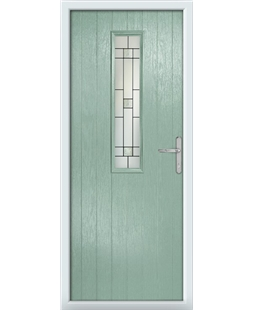 The Sheffield Composite Door in Green (Chartwell) with Tate