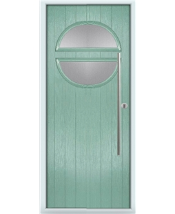 The Xenia Composite Door in Green (Chartwell) with Clear Glazing