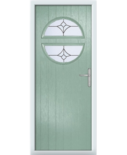 The Queensbury Composite Door in Green (Chartwell) with Crystal Tulip Arch