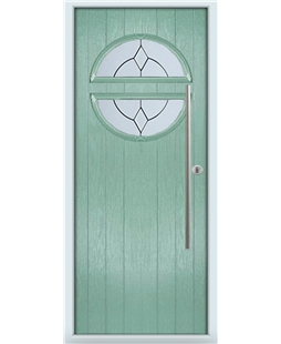The Xenia Composite Door in Green (Chartwell) with Classic Glazing