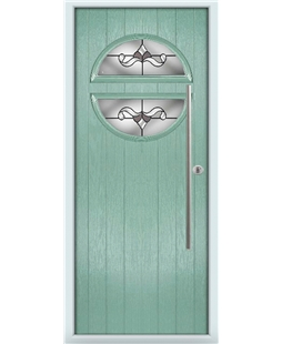 The Xenia Composite Door in Green (Chartwell) with Crystal Bohemia Frost