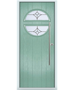 The Xenia Composite Door in Green (Chartwell) with Crystal Tulip Arch