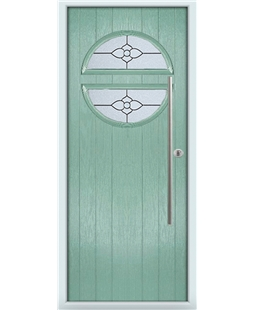 The Xenia Composite Door in Green (Chartwell) with Finesse Glazing