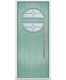 The Xenia Composite Door in Green (Chartwell) with Flair Glazing