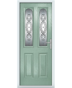 The Aberdeen Composite Door in Green (Chartwell) with Reflections