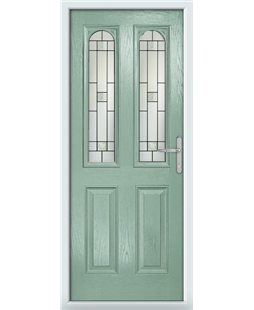 The Aberdeen Composite Door in Green (Chartwell) with Tate