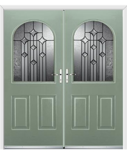 Kentucky French Rockdoor in Chartwell Green with Aquarius Glazing