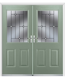 Windsor French Rockdoor in Chartwell Green with Crystal Bevel