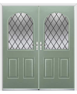 Kentucky French Rockdoor in Chartwell Green with Diamond Lead