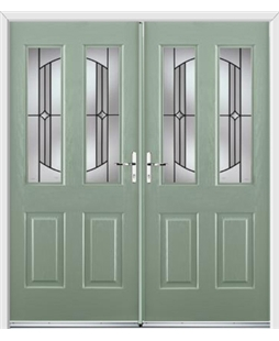 Jacobean French Rockdoor in Chartwell Green with Ellipse