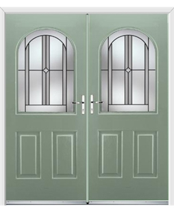 Kentucky French Rockdoor in Chartwell Green with Ellipse