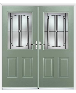 Windsor French Rockdoor in Chartwell Green with Ellipse