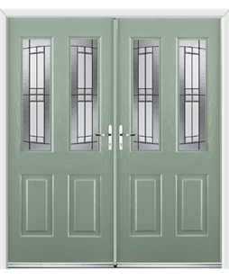 Jacobean French Rockdoor in Chartwell Green with Empire