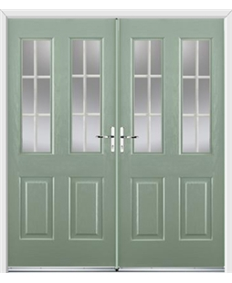 Jacobean French Rockdoor in Chartwell Green with White Georgian Bar