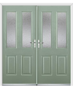 Jacobean French Rockdoor in Chartwell Green with Gluechip Glazing