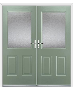 Windsor French Rockdoor in Chartwell Green with Gluechip Glazing