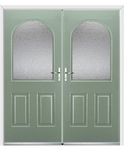 Kentucky French Rockdoor in Chartwell Green with Gluechip Glazing