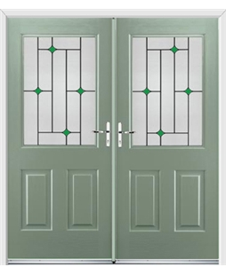 Windsor French Rockdoor in Chartwell Green with Green Diamonds