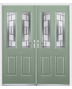 Jacobean French Rockdoor in Chartwell Green with Inspire