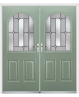 Kentucky French Rockdoor in Chartwell Green with Linear