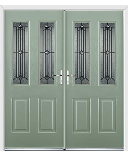 Jacobean French Rockdoor in Chartwell Green with Scorpio