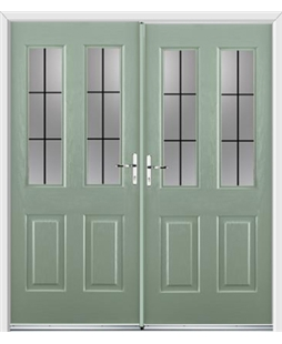 Jacobean French Rockdoor in Chartwell Green with Square Lead