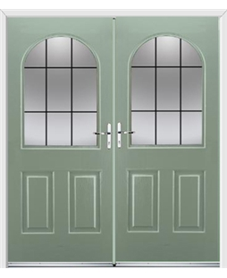 Kentucky French Rockdoor in Chartwell Green with Square Lead