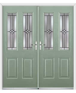 Jacobean French Rockdoor in Chartwell Green with Summit