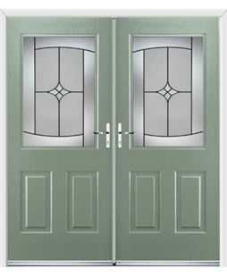Windsor French Rockdoor in Chartwell Green with Summit