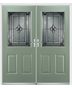 Windsor French Rockdoor in Chartwell Green with Triton Glazing