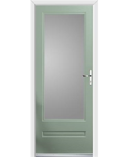 Ultimate Classic Rockdoor in Chartwell Green with Glazing