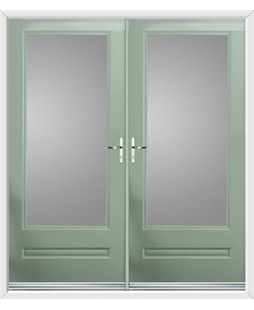 Classic French Rockdoor in Chartwell Green with Glazing