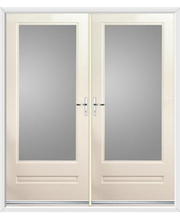 Classic French Rockdoor in Cream with Glazing