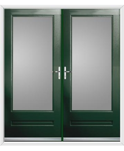 Classic French Rockdoor in Emerald Green with Glazing