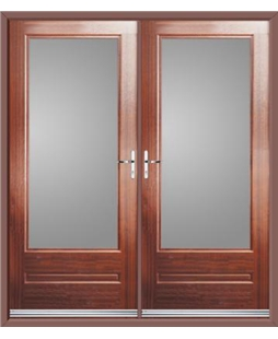 Classic French Rockdoor in Mahogany with Glazing