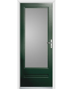 Ultimate Classic Rockdoor in Emerald Green with Glazing