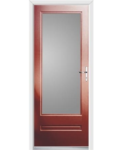 Ultimate Classic Rockdoor in Ruby Red with Glazing